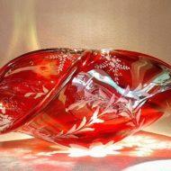 Κρυστάλλινο καλάθι κόκκινο