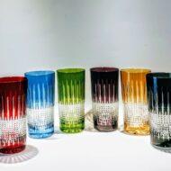 κρυστάλλινα ποτήρια χυμού  χρωματιστά